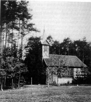 Kościół w Smęcinie, stał do lat 60 XX w.